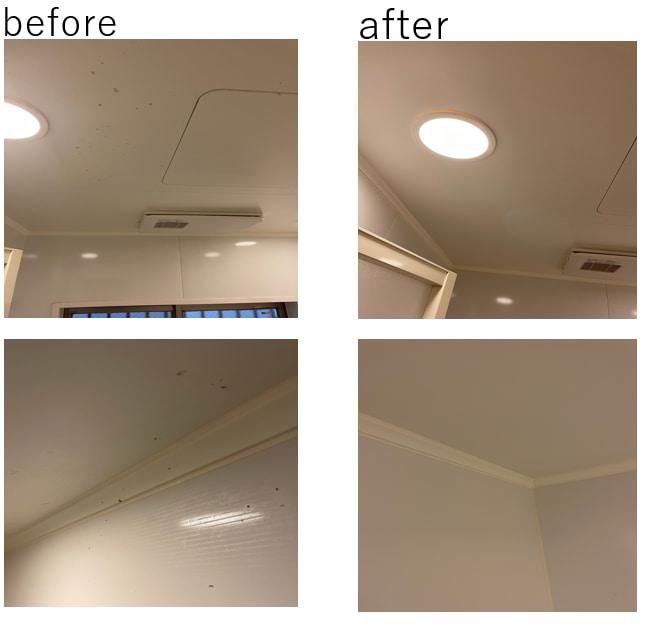 浴室天井のカビ汚れ