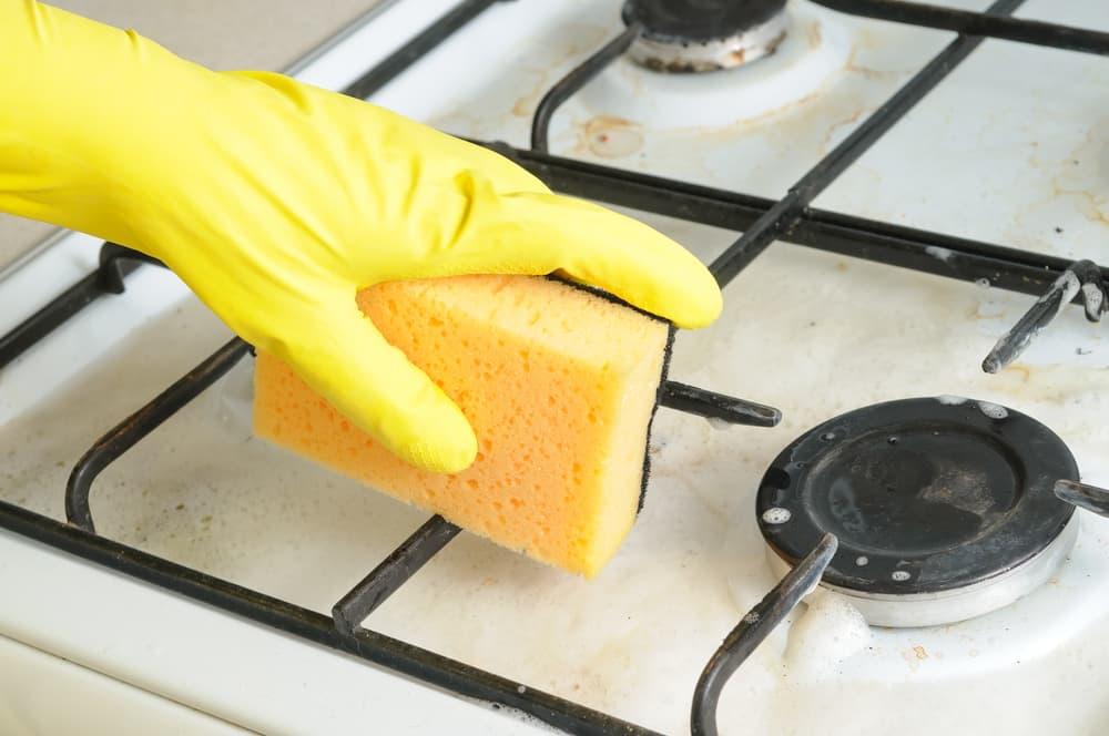 キッチンコンロの掃除
