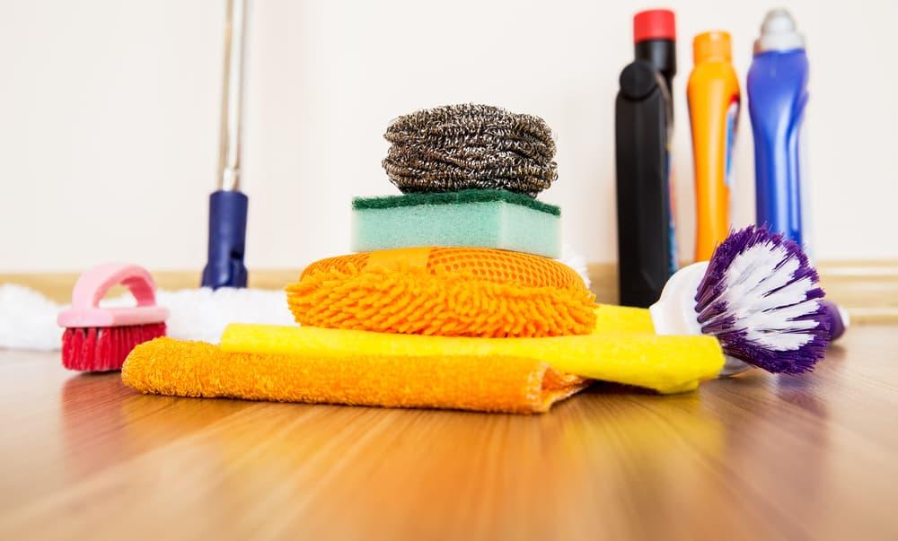 掃除に使う道具