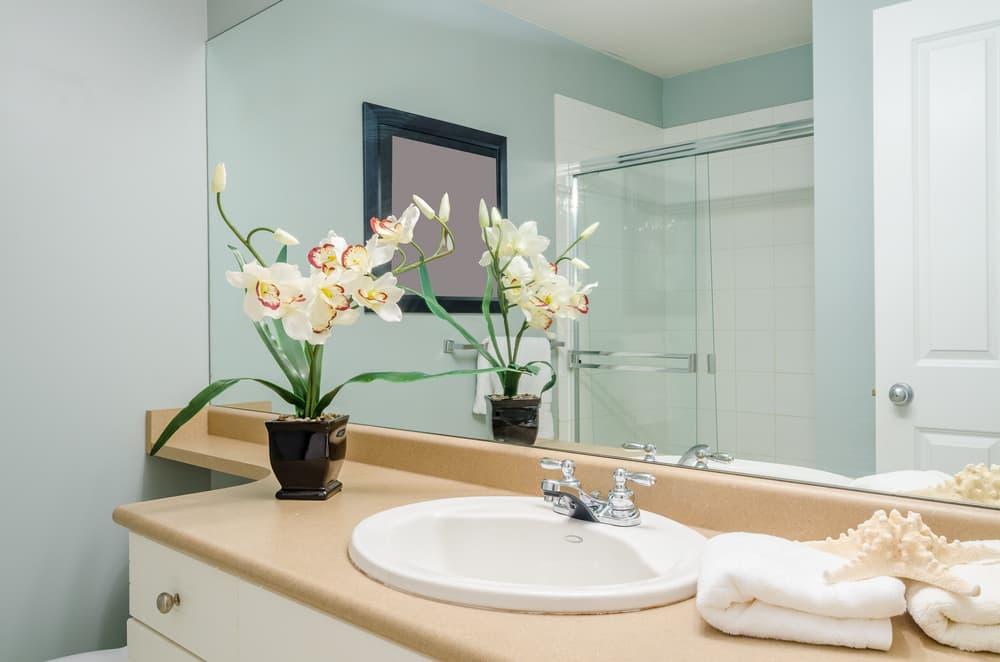 綺麗で清潔感のある洗面所
