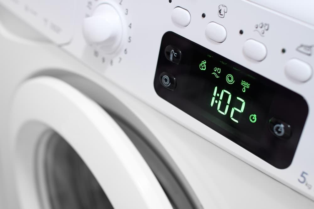 洗濯コースの表示画面のアップ