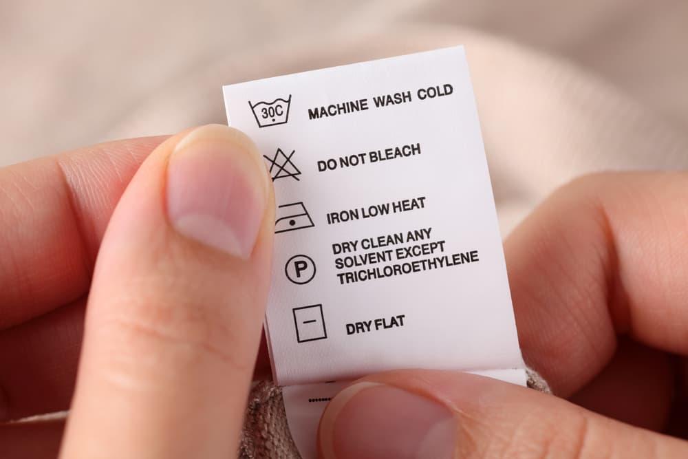 洗濯表示タグのアップ