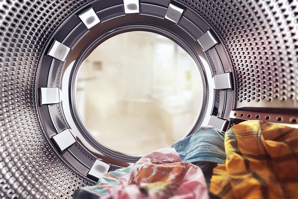 洗濯機の中から見た景色