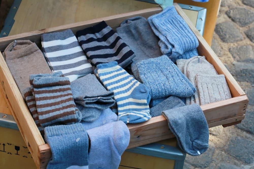 靴下が収納されている