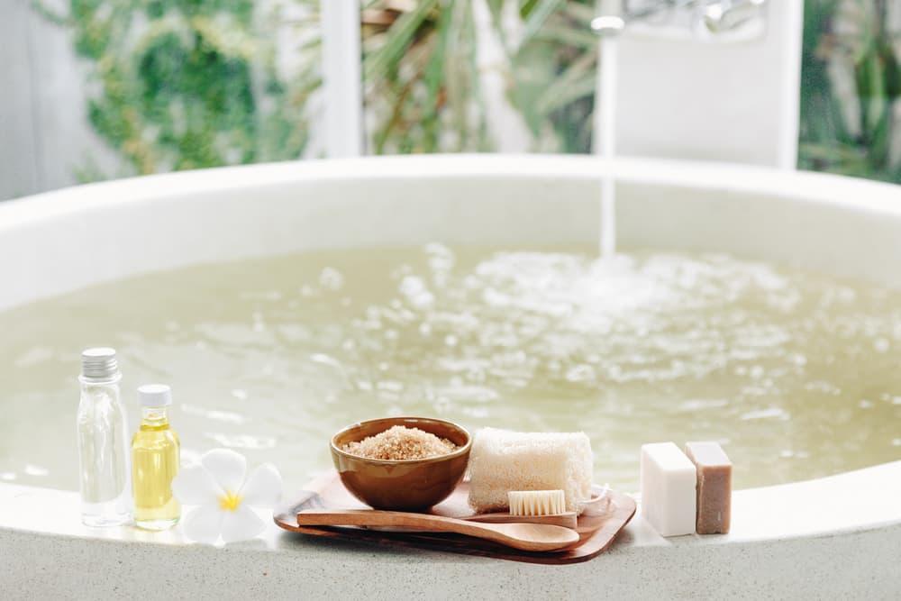 浴槽と入浴剤