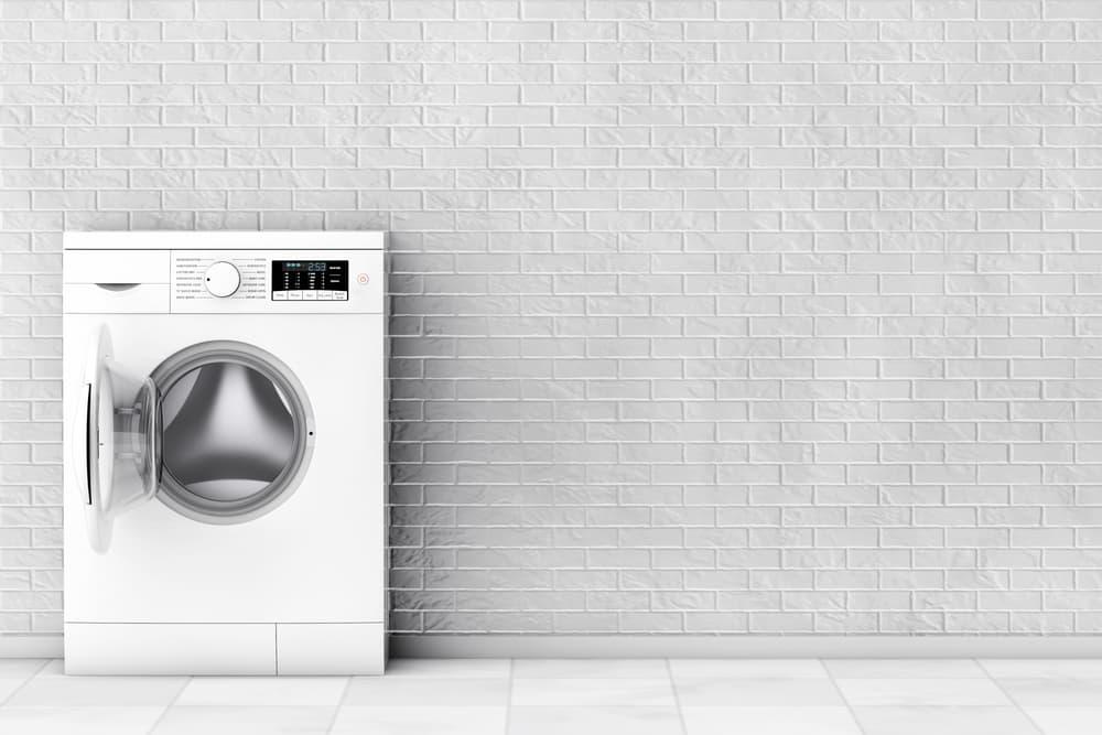 ドラム式洗濯機の蓋が開いている