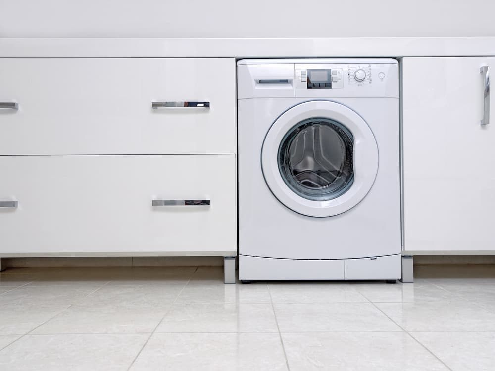 洗濯場とドラム式洗濯機